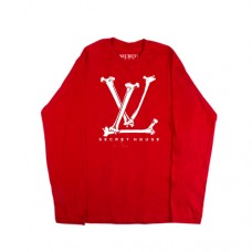 LV BONES LONG SLEEVE RED