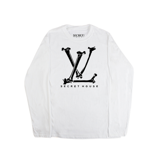 LV BONES LONG SLEEVE WHITE