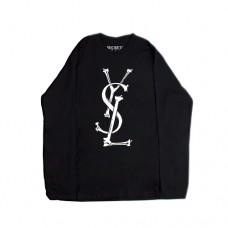 YSL BONES LONG SLEEVE BLACK