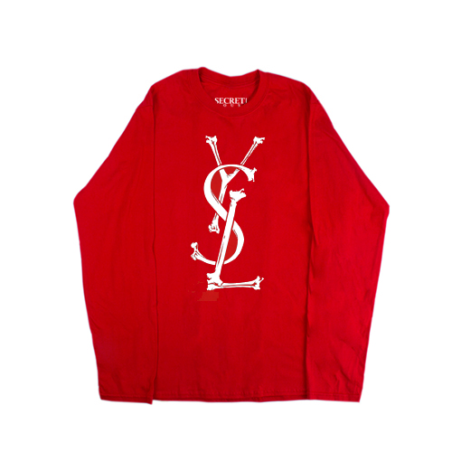 YSL BONES LONG SLEEVE RED